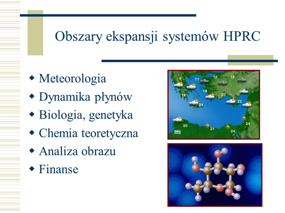 Obszary ekspansji systemów HPRC