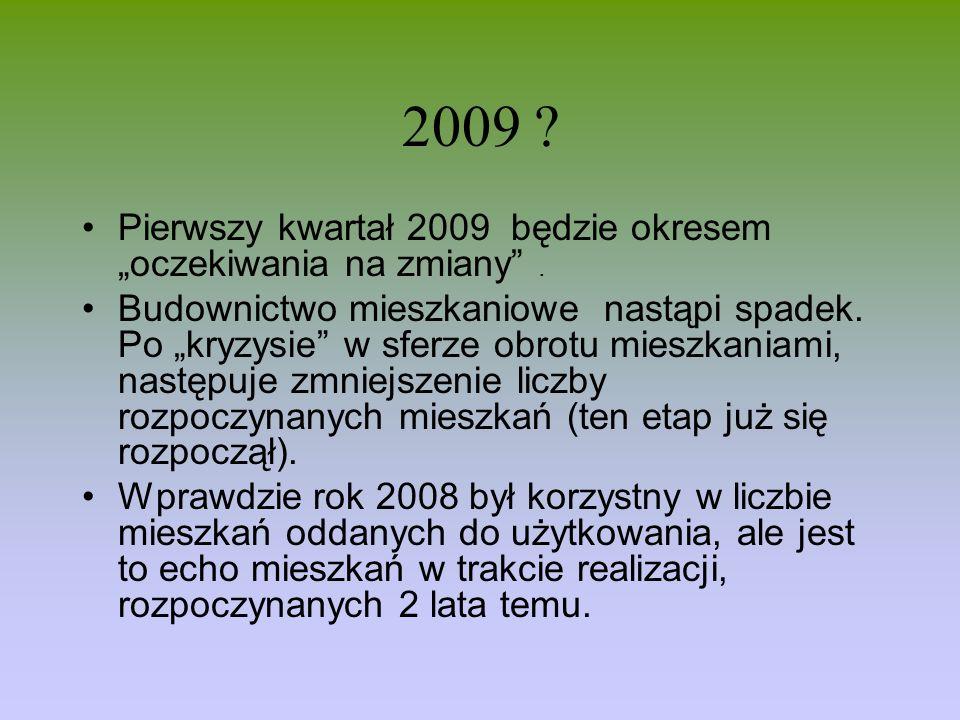 """2009 Pierwszy kwartał 2009 będzie okresem """"oczekiwania na zmiany ."""