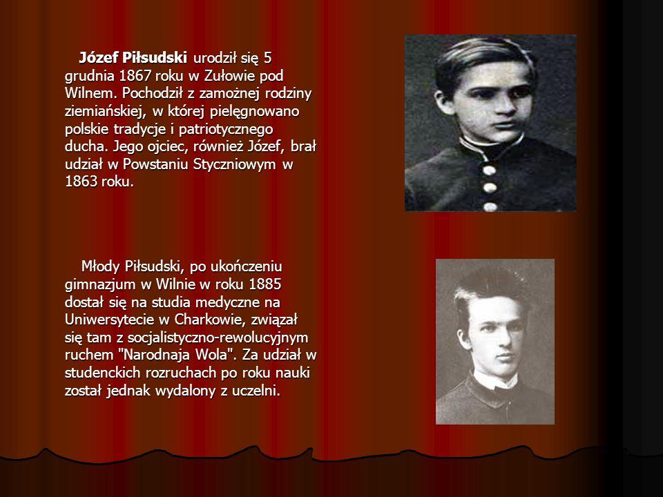 Józef Piłsudski urodził się 5 grudnia 1867 roku w Zułowie pod Wilnem