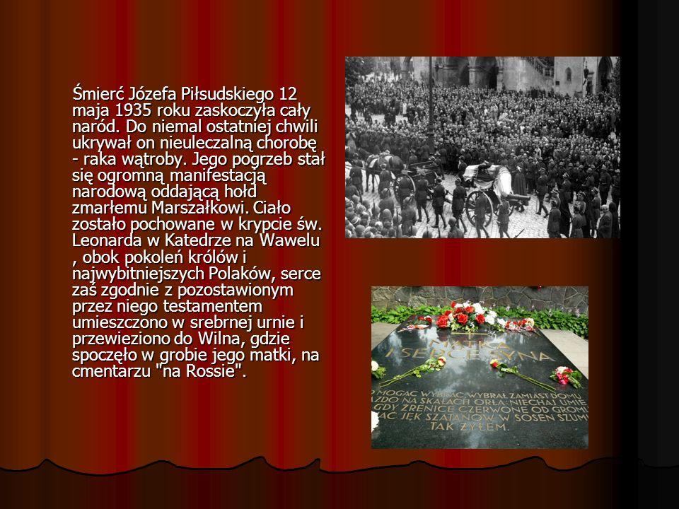 Śmierć Józefa Piłsudskiego 12 maja 1935 roku zaskoczyła cały naród