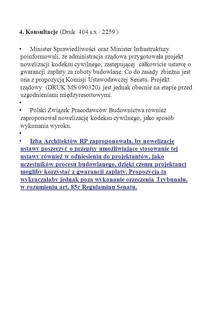 4. Konsultacje (Druk 404 s.x / 2259 )