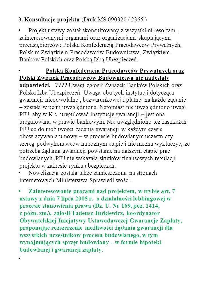 3. Konsultacje projektu (Druk MS 090320 / 2365 )