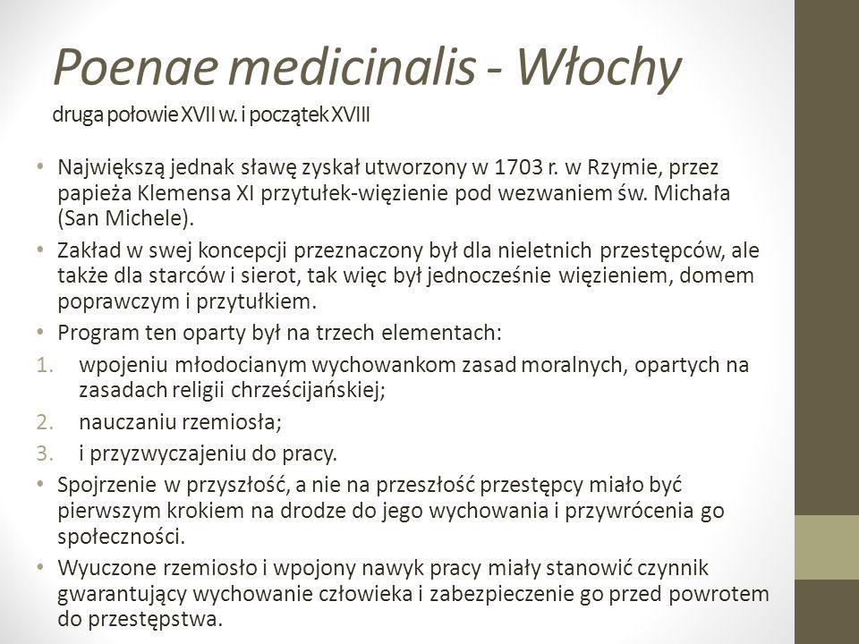 Poenae medicinalis - Włochy druga połowie XVII w. i początek XVIII