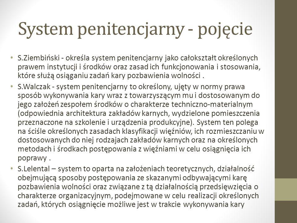 System penitencjarny - pojęcie