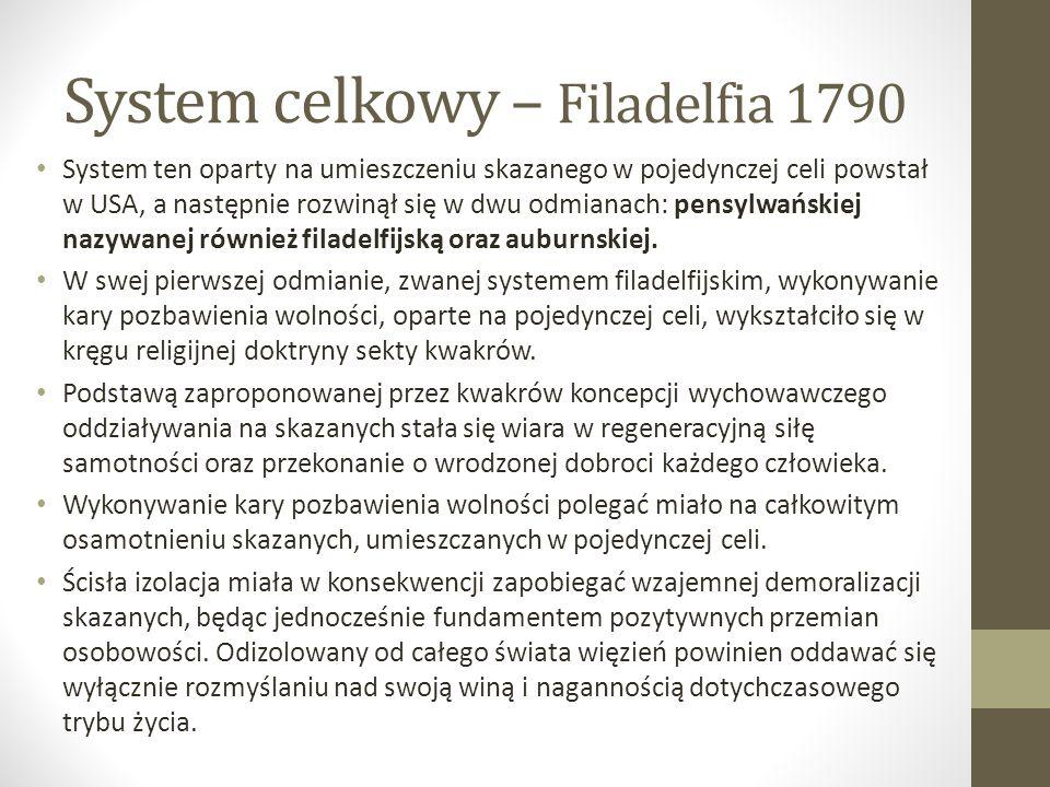 System celkowy – Filadelfia 1790