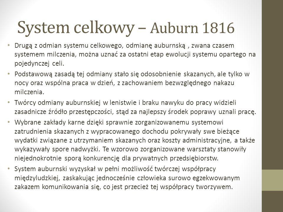System celkowy – Auburn 1816