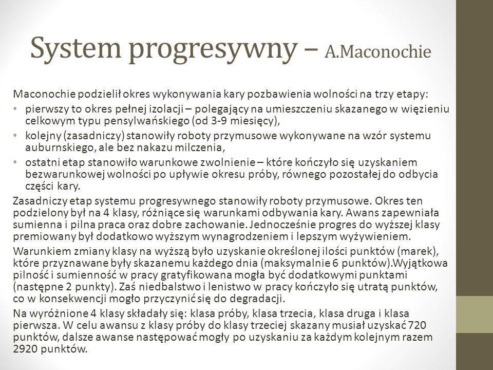 System progresywny – A.Maconochie