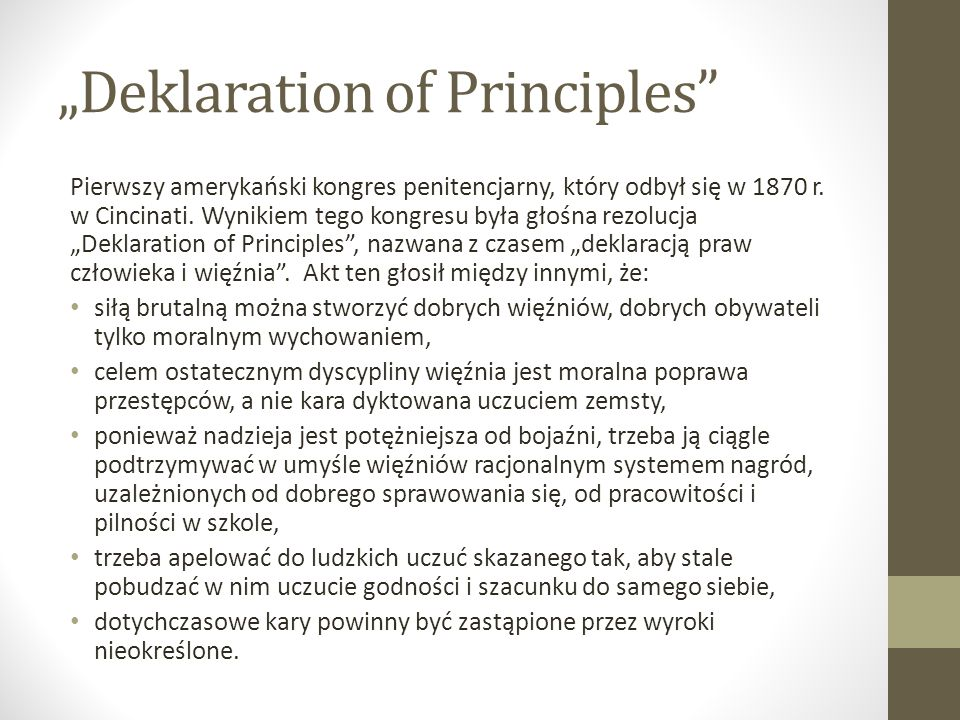 """Deklaration of Principles"