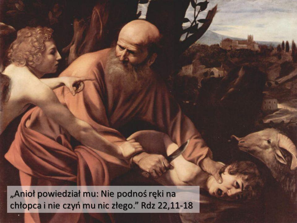 Anioł powstrzymuje Abrahama przed złożeniem ofiary z Izaaka