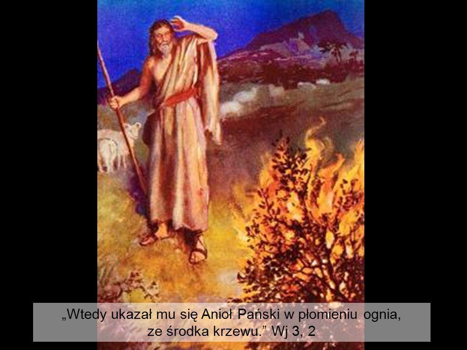 """""""Wtedy ukazał mu się Anioł Pański w płomieniu ognia,"""