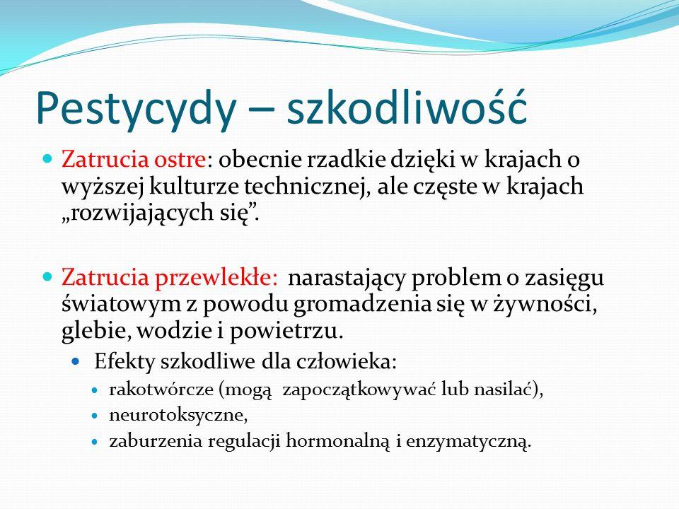 Pestycydy – szkodliwość