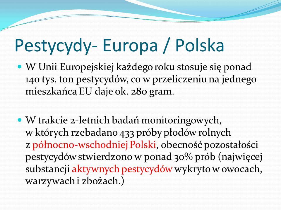 Pestycydy- Europa / Polska