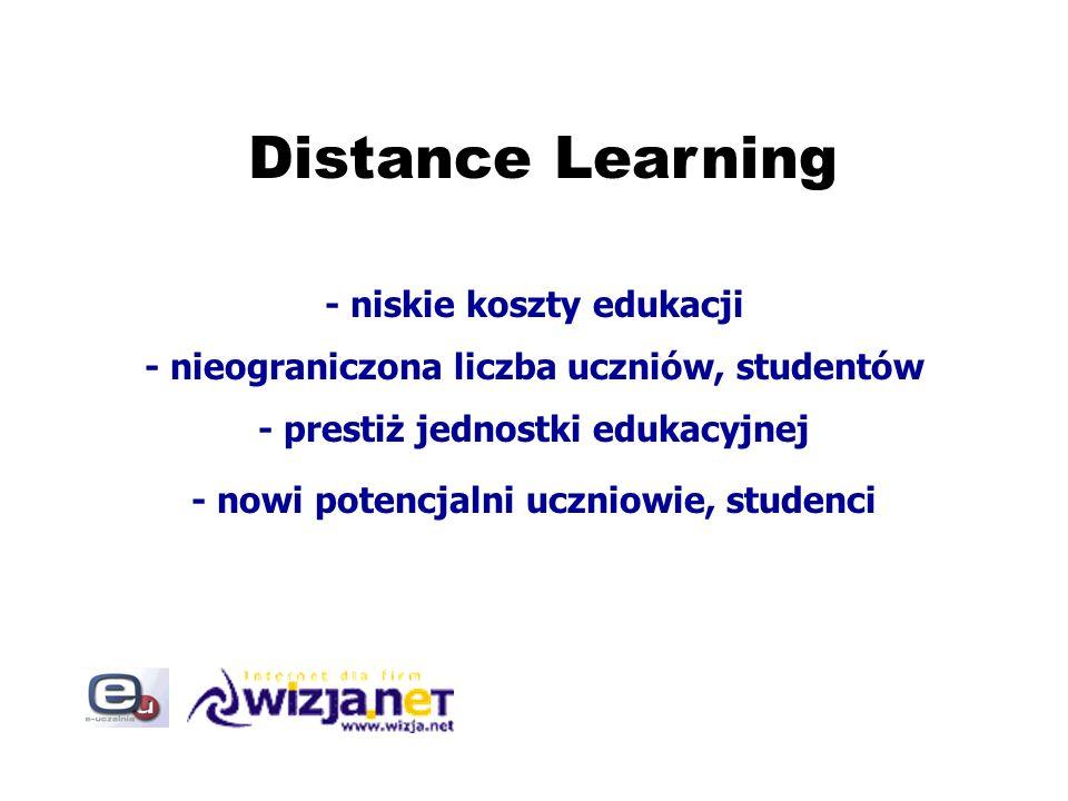 Distance Learning - niskie koszty edukacji