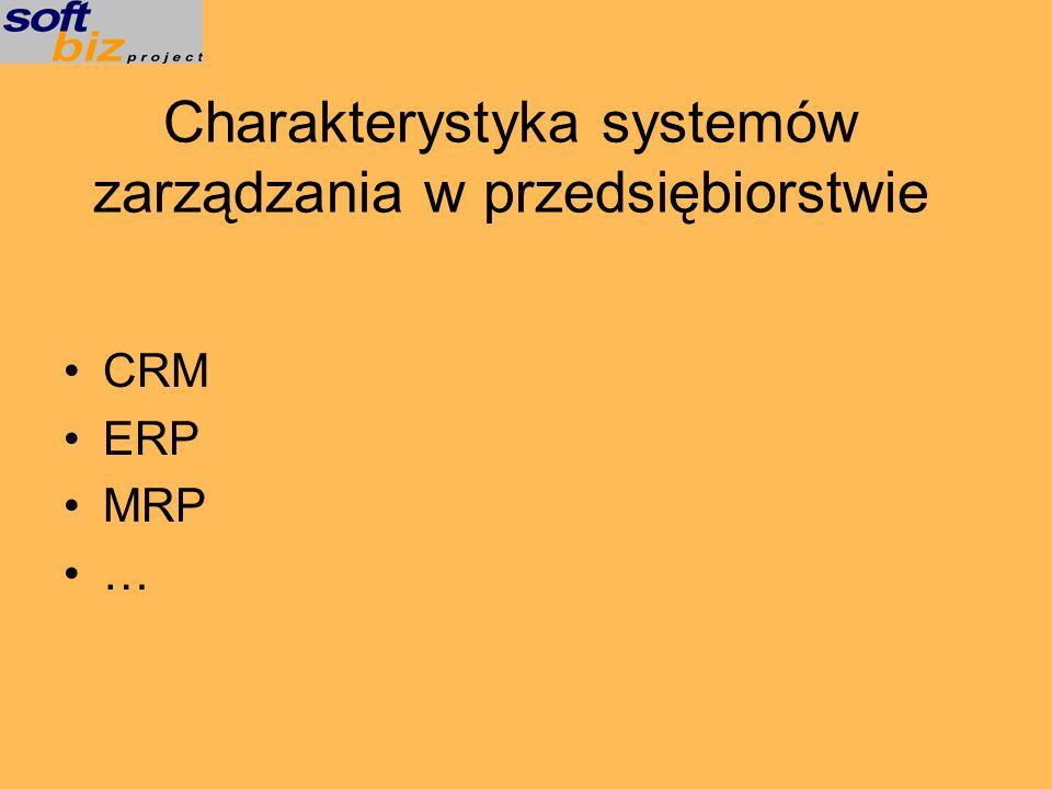 Charakterystyka systemów zarządzania w przedsiębiorstwie