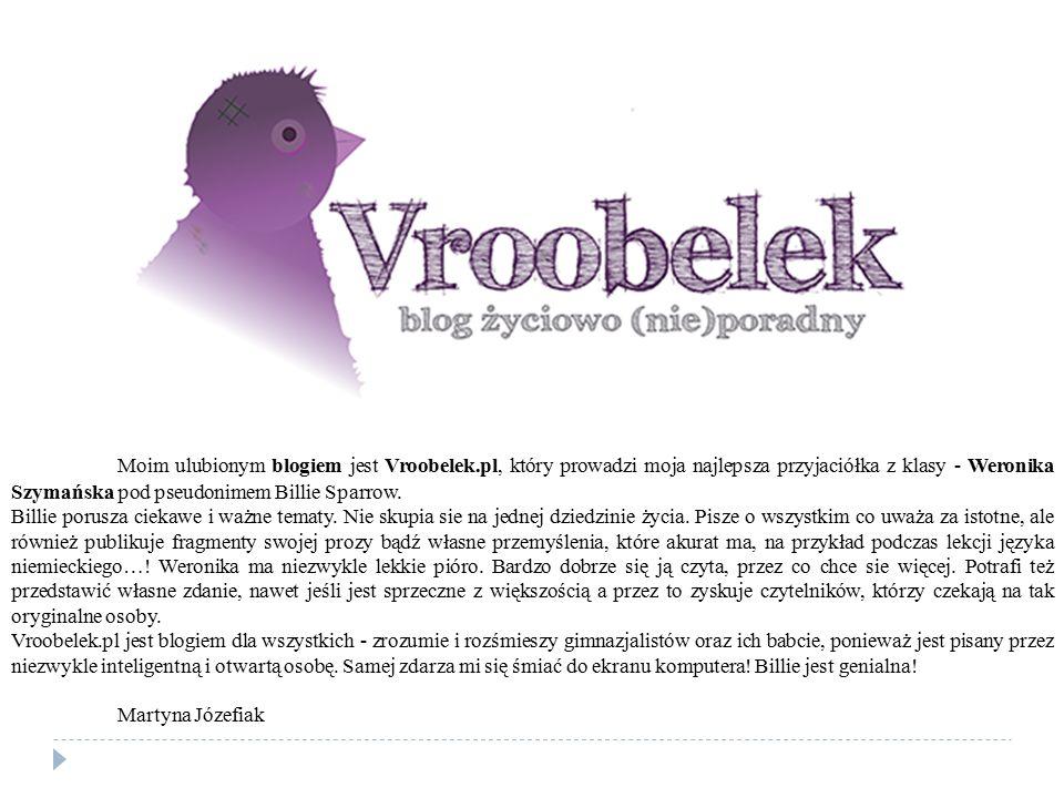 Moim ulubionym blogiem jest Vroobelek