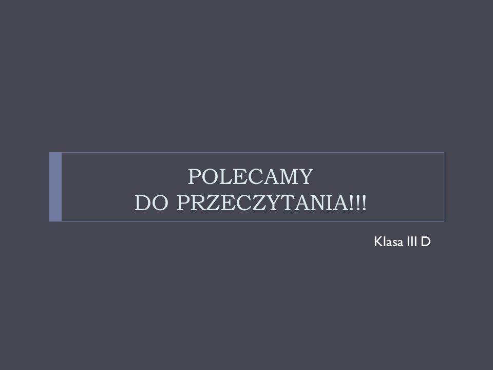POLECAMY DO PRZECZYTANIA!!!