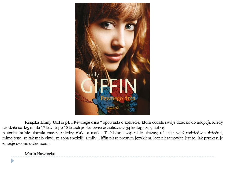 Książka Emily Giffin pt