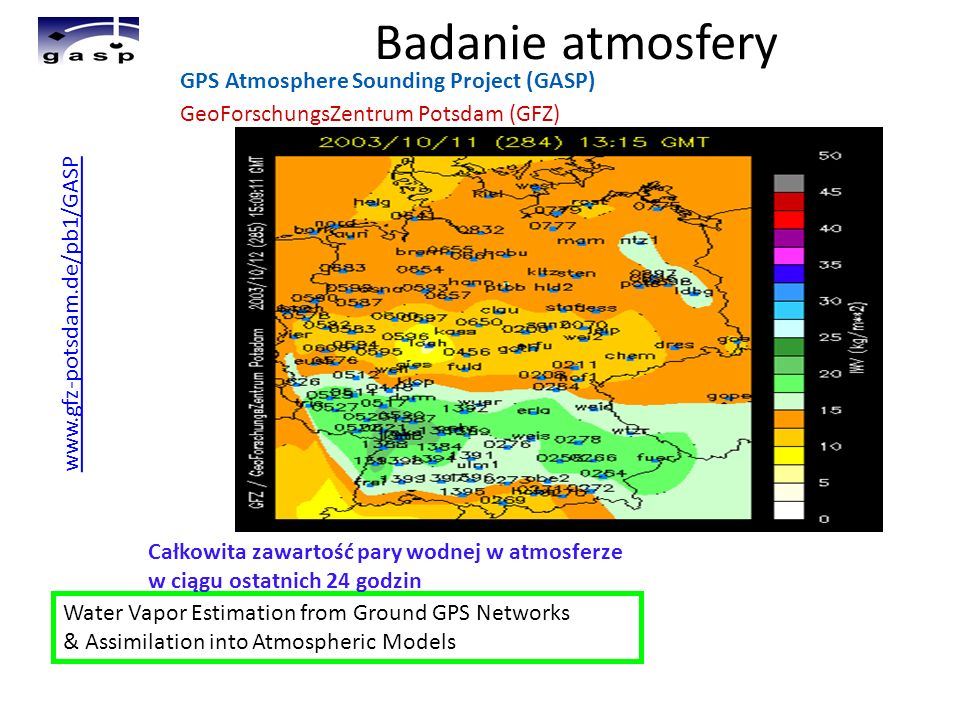 Badanie atmosfery GPS Atmosphere Sounding Project (GASP)