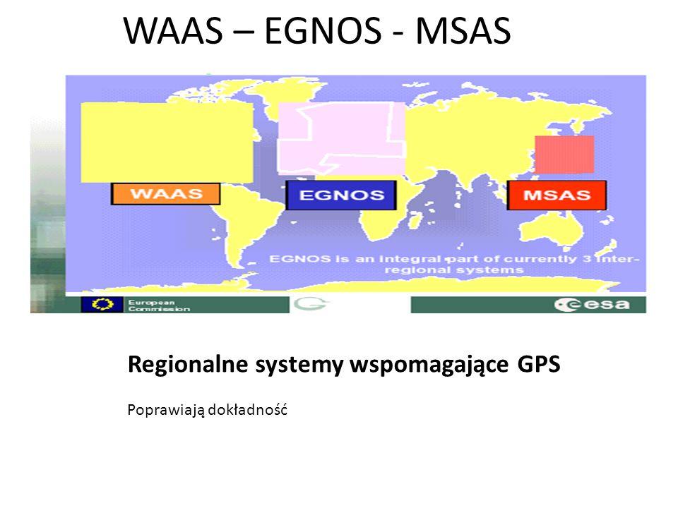 WAAS – EGNOS - MSAS Regionalne systemy wspomagające GPS
