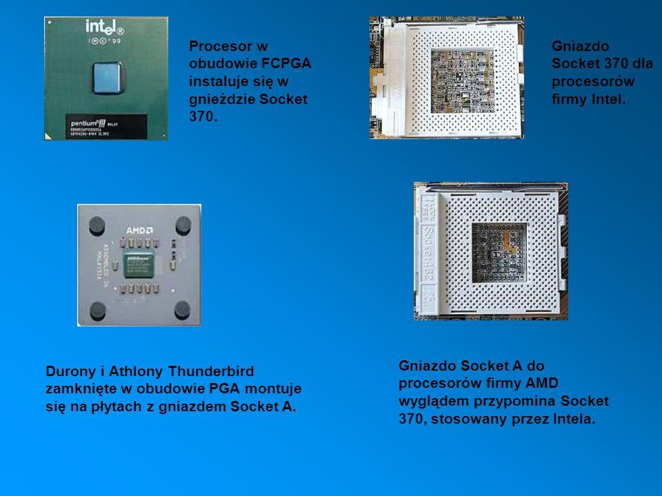 Procesor w obudowie FCPGA instaluje się w gnieździe Socket 370.