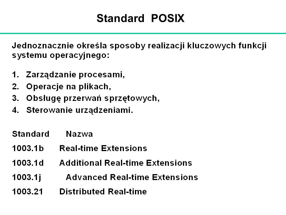 Standard POSIX