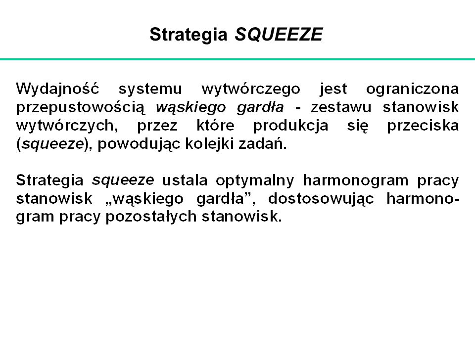 Strategia SQUEEZE