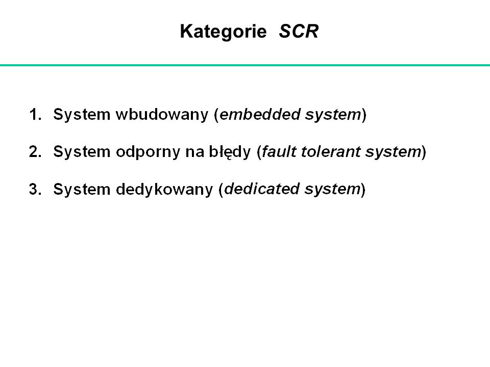 Kategorie SCR