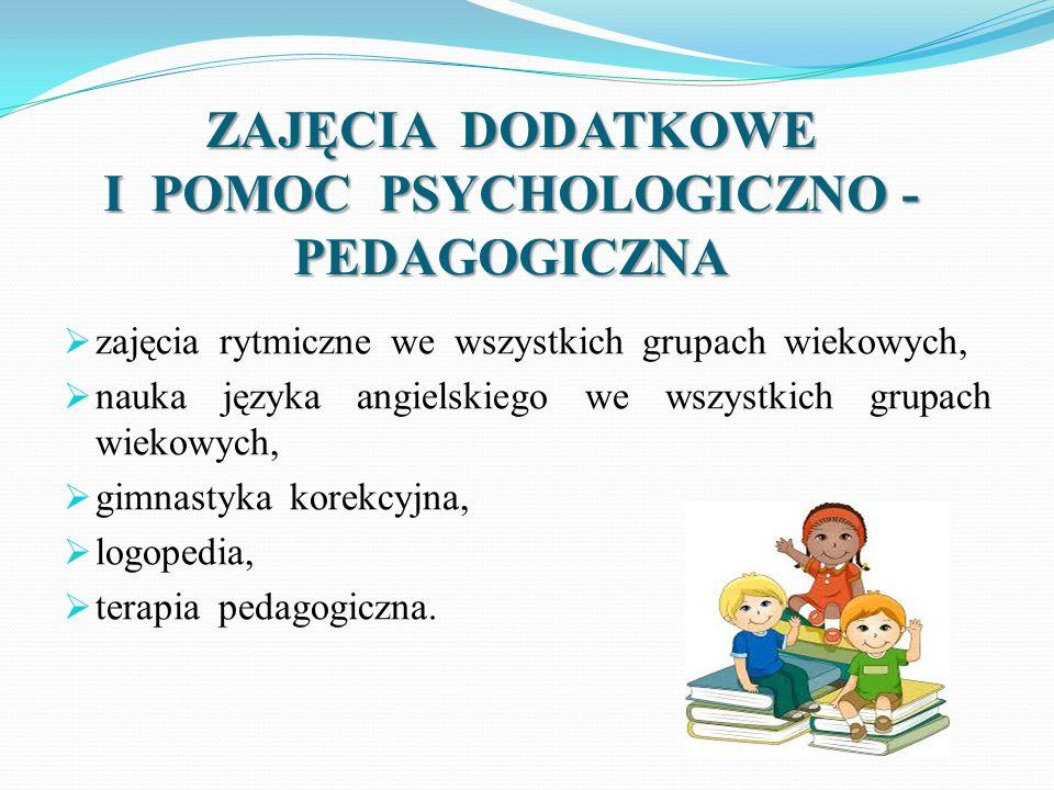 ZAJĘCIA DODATKOWE I POMOC PSYCHOLOGICZNO - PEDAGOGICZNA