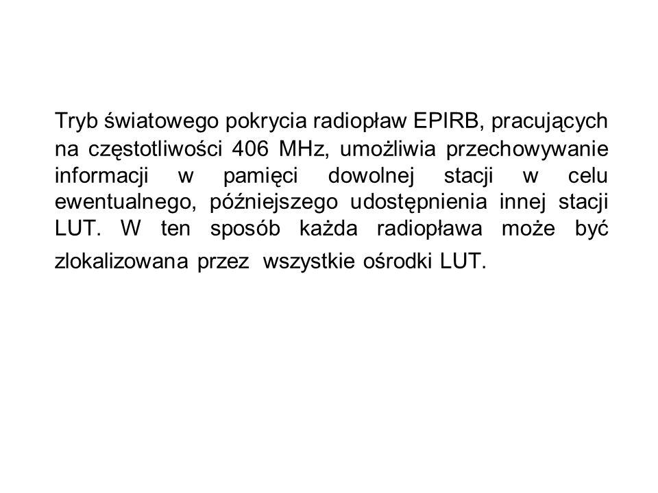 Tryb światowego pokrycia radiopław EPIRB, pracujących na częstotliwości 406 MHz, umożliwia przechowywanie informacji w pamięci dowolnej stacji w celu ewentualnego, późniejszego udostępnienia innej stacji LUT.