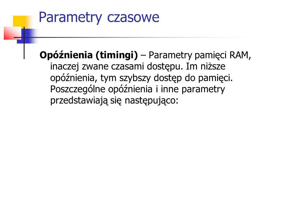 Parametry czasowe