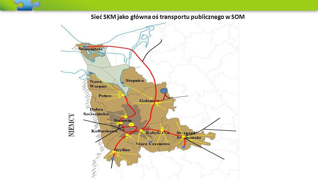 Sieć SKM jako główna oś transportu publicznego w SOM
