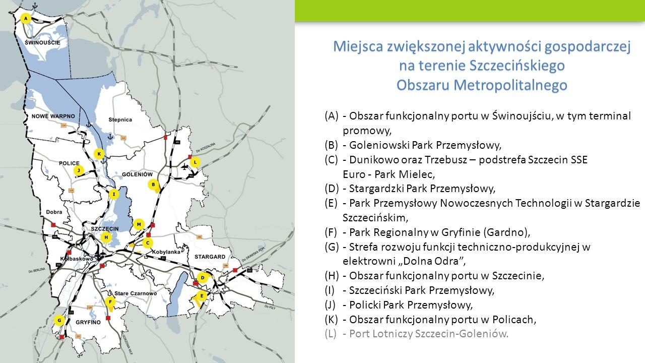 Miejsca zwiększonej aktywności gospodarczej na terenie Szczecińskiego Obszaru Metropolitalnego