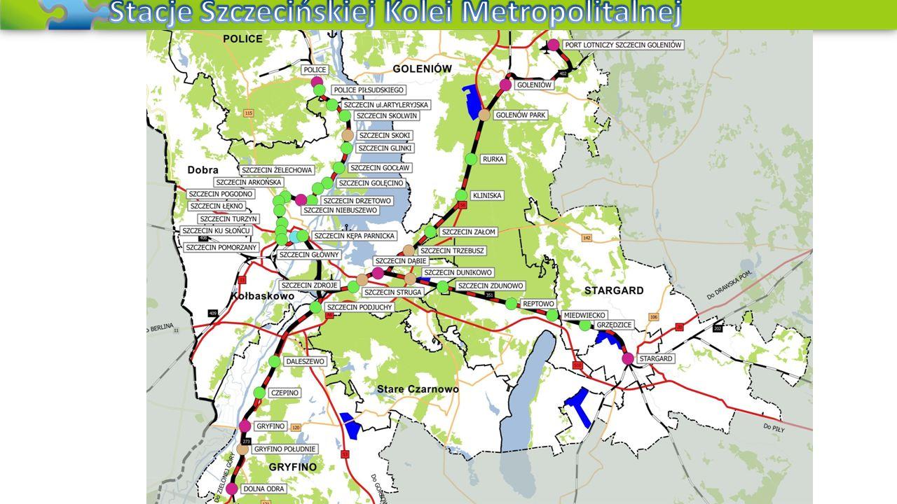 Stacje Szczecińskiej Kolei Metropolitalnej