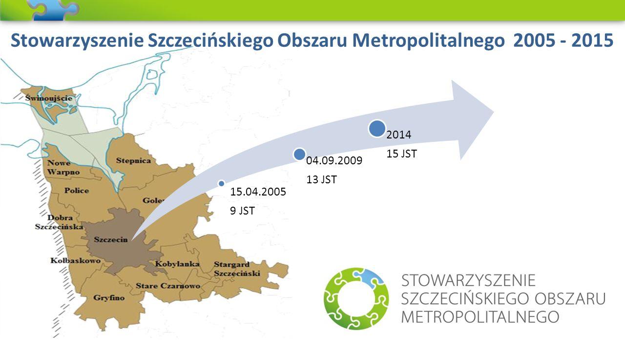 Stowarzyszenie Szczecińskiego Obszaru Metropolitalnego 2005 - 2015