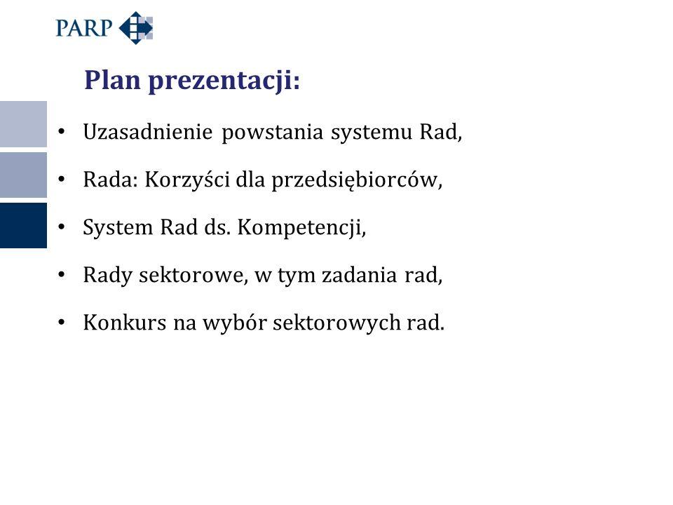 Plan prezentacji: Uzasadnienie powstania systemu Rad,