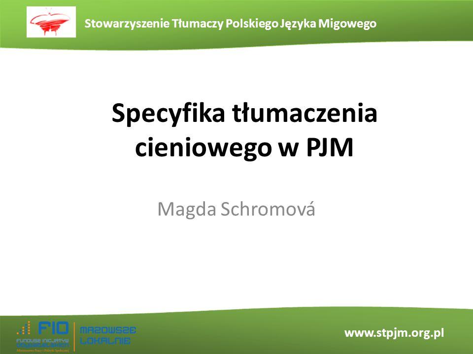 Specyfika tłumaczenia cieniowego w PJM