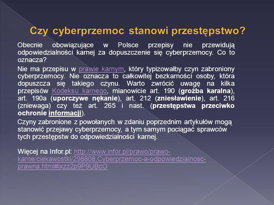 Czy cyberprzemoc stanowi przestępstwo