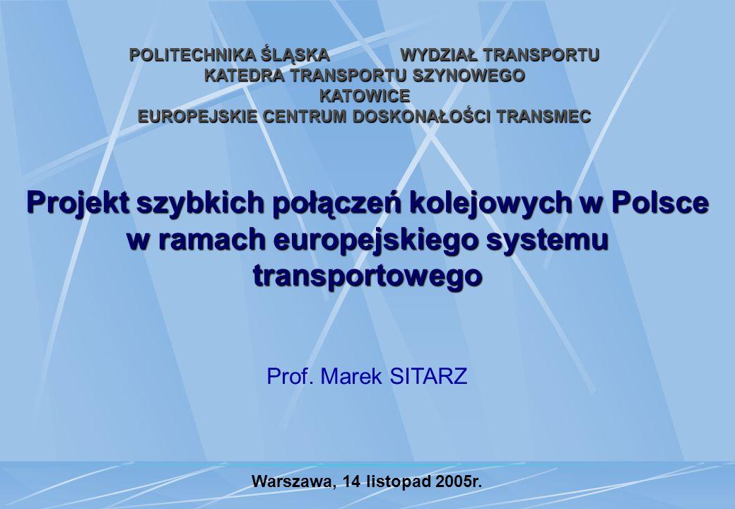 POLITECHNIKA ŚLĄSKA WYDZIAŁ TRANSPORTU