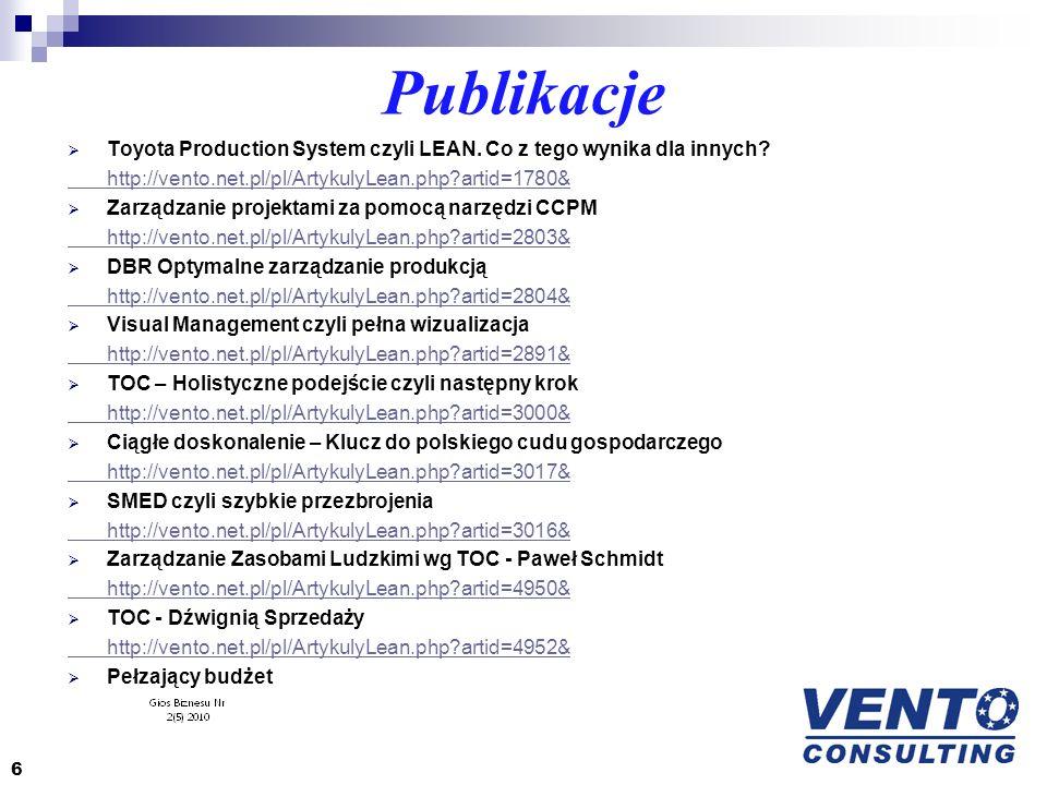 Publikacje Toyota Production System czyli LEAN. Co z tego wynika dla innych http://vento.net.pl/pl/ArtykulyLean.php artid=1780&