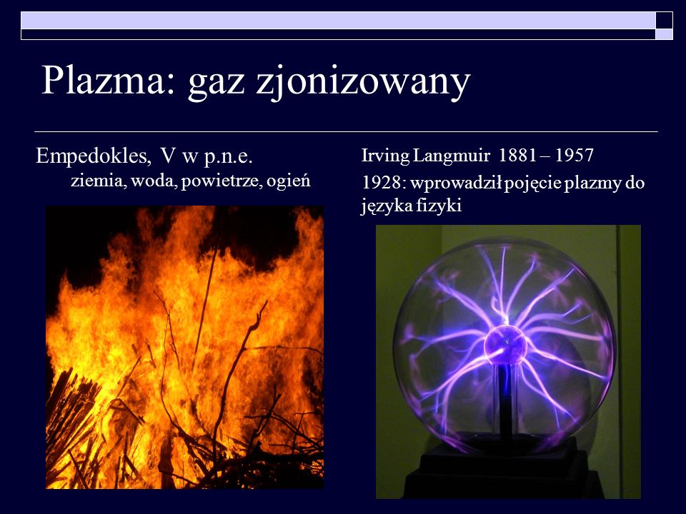 Plazma: gaz zjonizowany