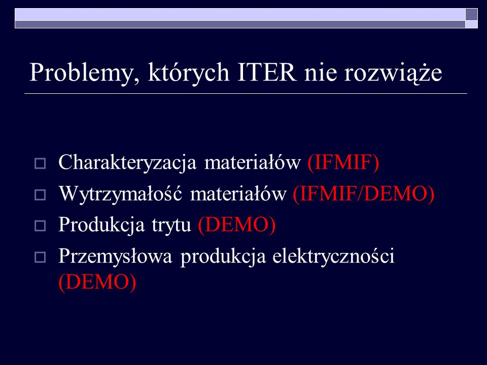 Problemy, których ITER nie rozwiąże
