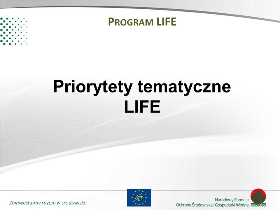Priorytety tematyczne LIFE