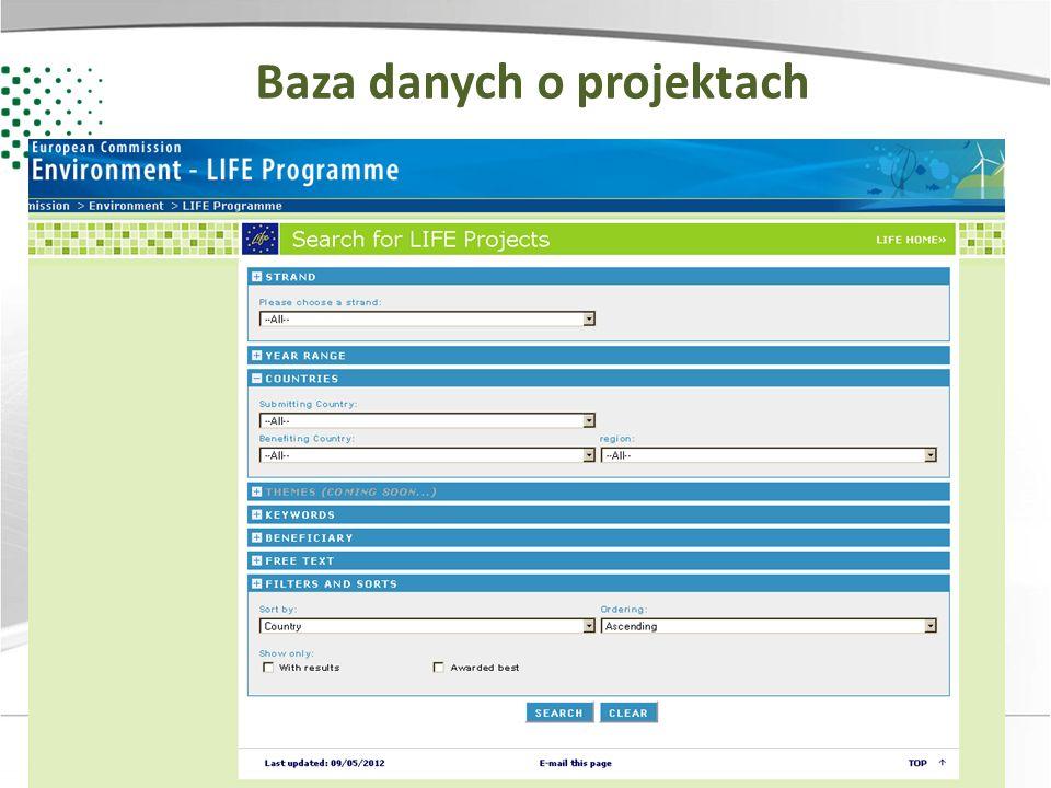 Baza danych o projektach
