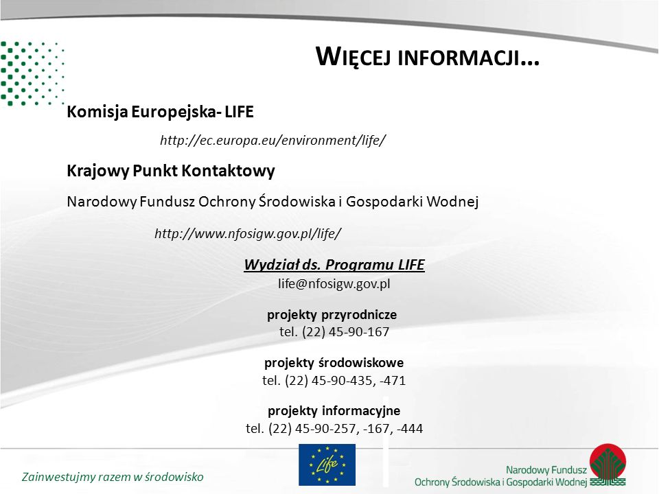 Wydział ds. Programu LIFE