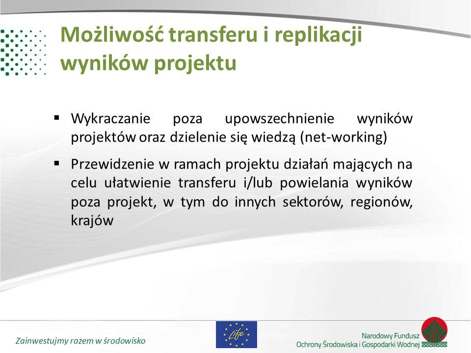 Możliwość transferu i replikacji wyników projektu