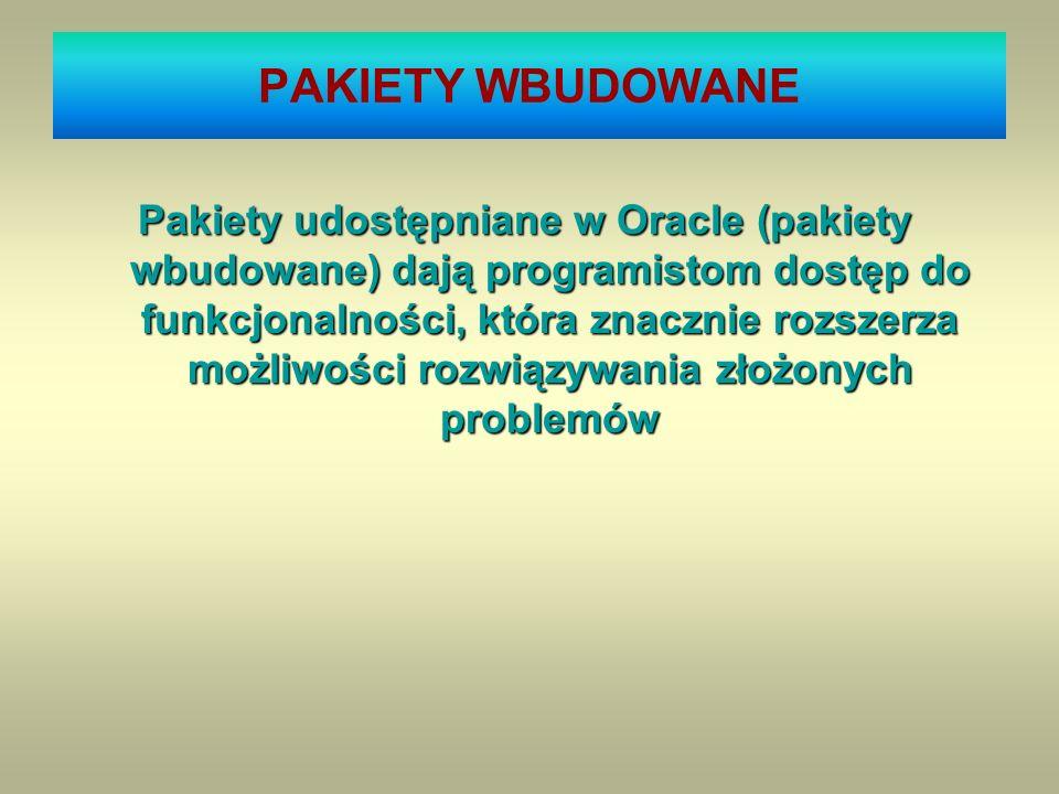 PAKIETY WBUDOWANE
