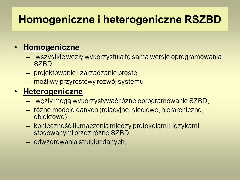 Homogeniczne i heterogeniczne RSZBD
