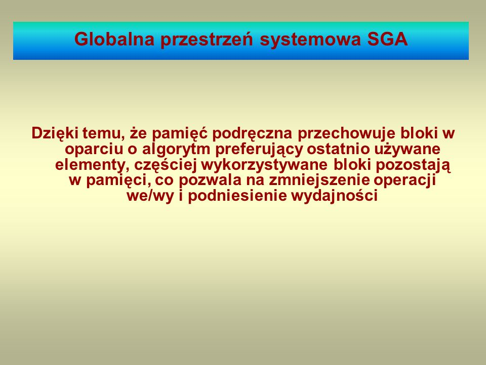 Globalna przestrzeń systemowa SGA