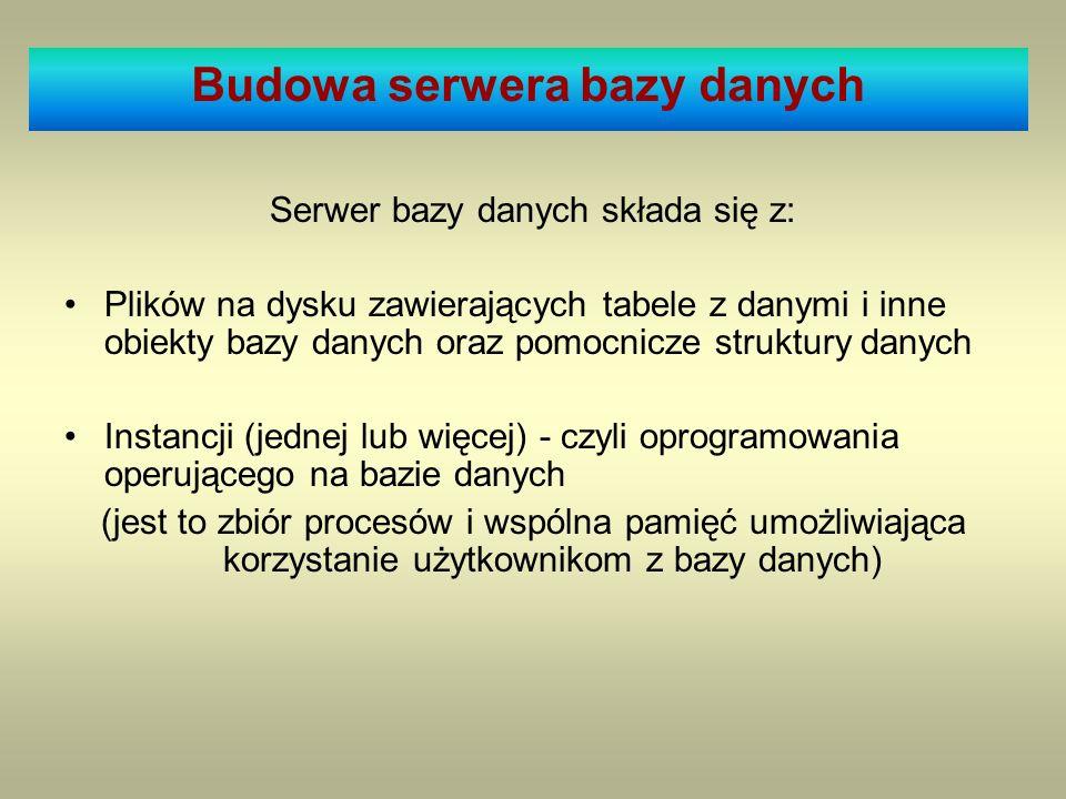 Budowa serwera bazy danych