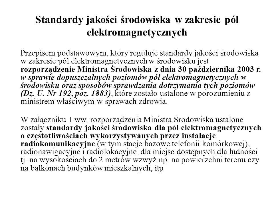 Standardy jakości środowiska w zakresie pól elektromagnetycznych